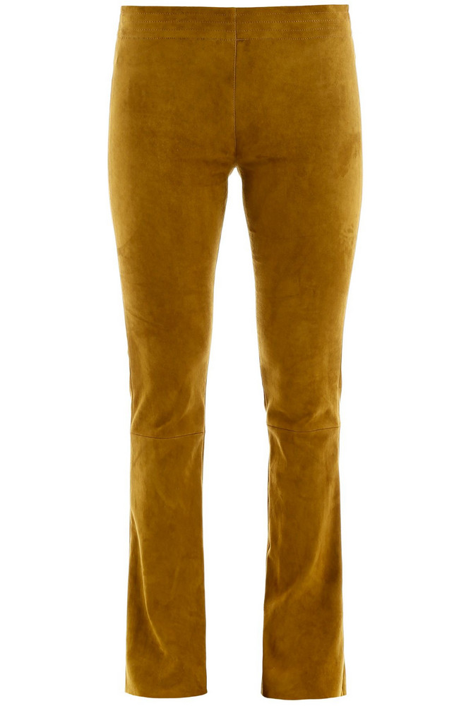 DROMe Suede Trousers in yellow