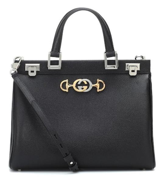 Gucci Zumi Medium leather tote in black