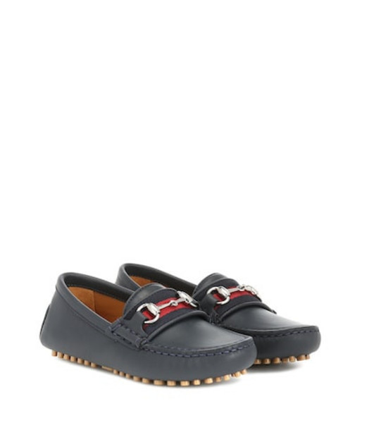 Gucci Kids Leather loafers in blue