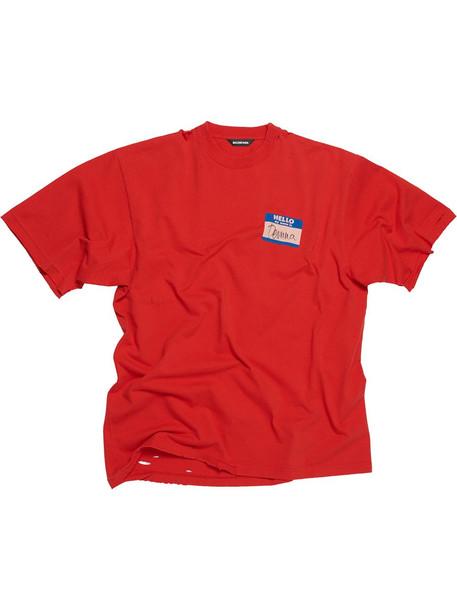 BALENCIAGA My Name is Demna T-shirt - Red