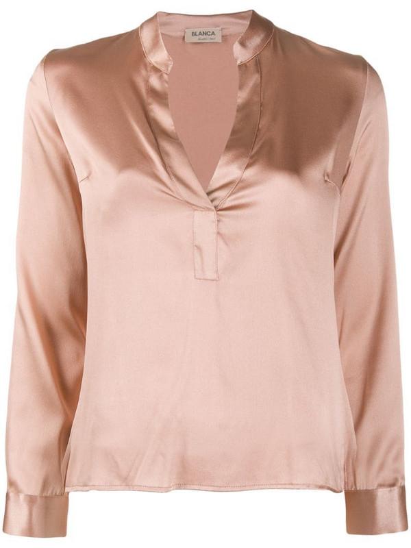 Blanca Vita v-neck blouse in pink