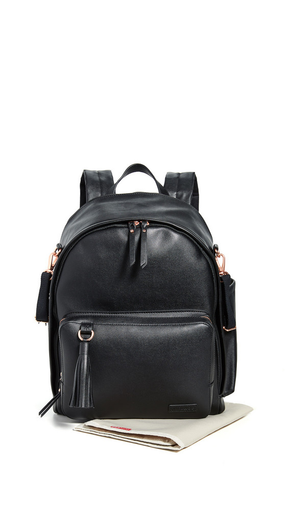 Skip Hop Greenwich Simply Chic Diaper Backpack in black