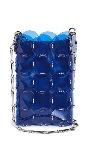 Paco Rabanne Disc Mini Bag in blue