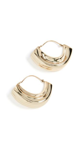 Ellery Arturo Textured Hoop Earrings in gold