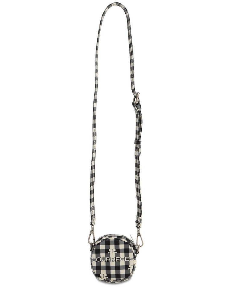 COURREGES Printed Round Bag in black / white