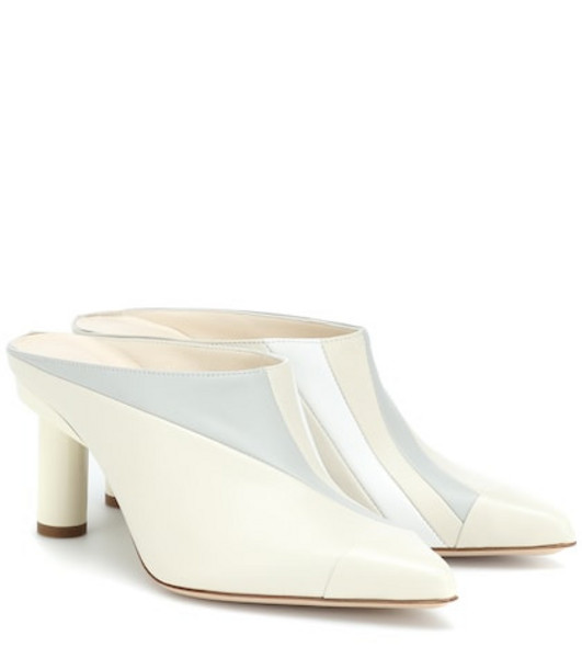 Tibi Joel leather mules in white