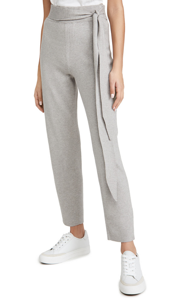 WAYF Kerry Tie Waist Pants in charcoal