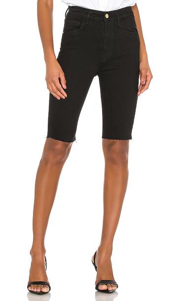 FRAME Le Vintage Bermuda Short in noir