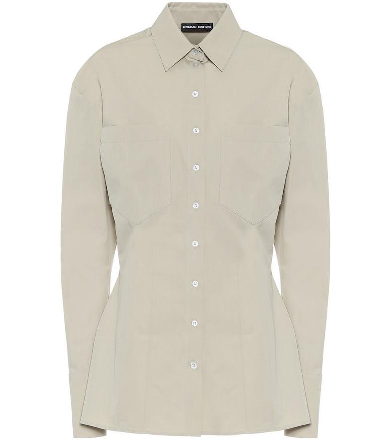 Kwaidan Editions Cotton poplin shirt in beige
