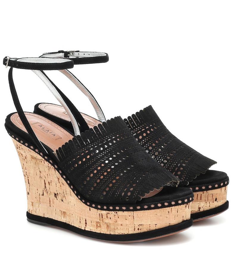 Alaïa Suede wedge sandals in black