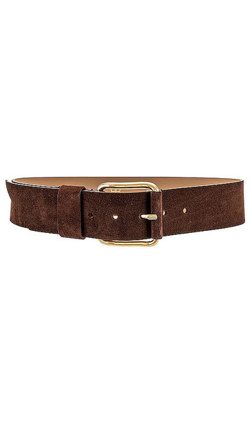 B-Low the Belt Ivy Wide Suede Belt in Chocolate