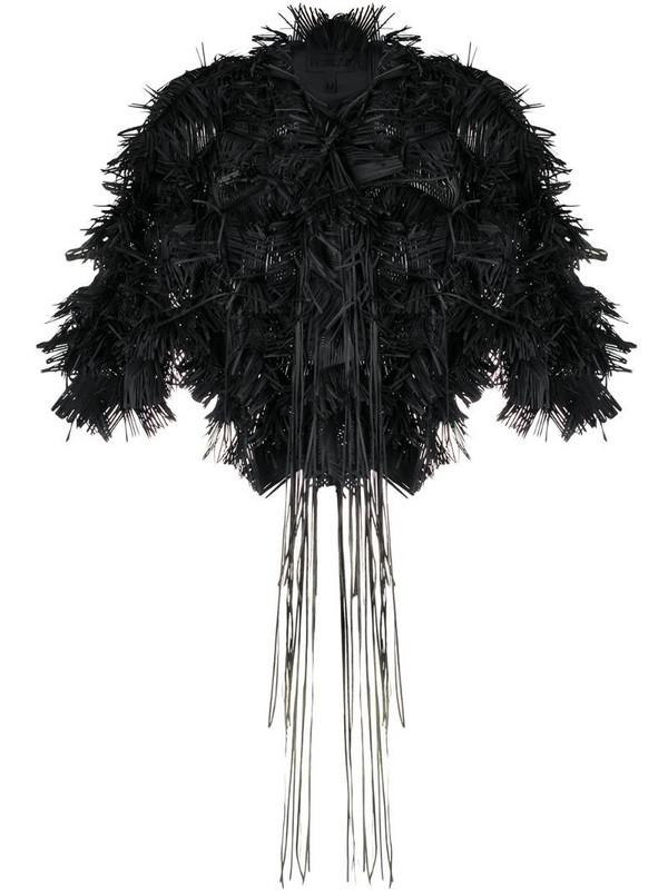 Paskal cropped fringe bolero jacket in black