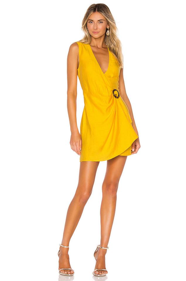 Ronny Kobo Lorenza Dress in yellow