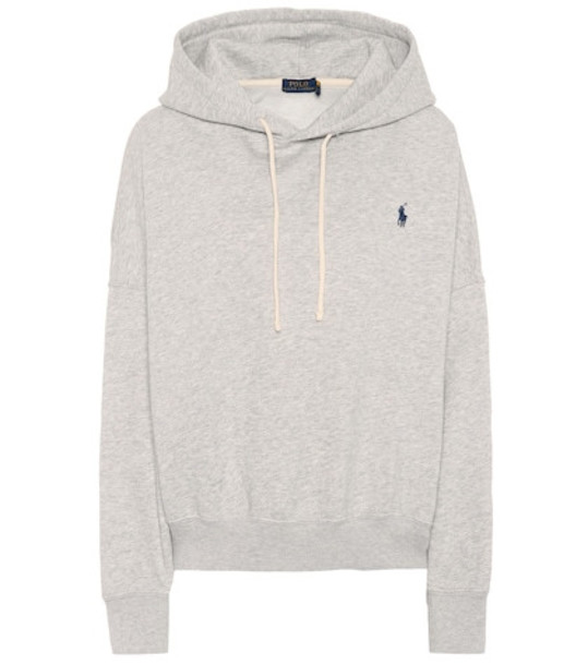 Polo Ralph Lauren Cotton-blend hoodie in grey