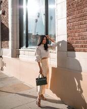 skirt,bag,midi skirt,leopard print,sandal heels,black bag,sweater