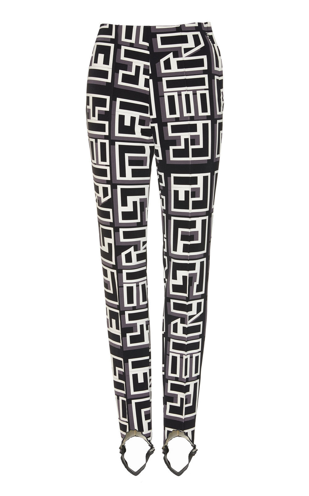 Bogner Elaine Printed Stretch-Twill Stirrup Pants Size: 4 in print