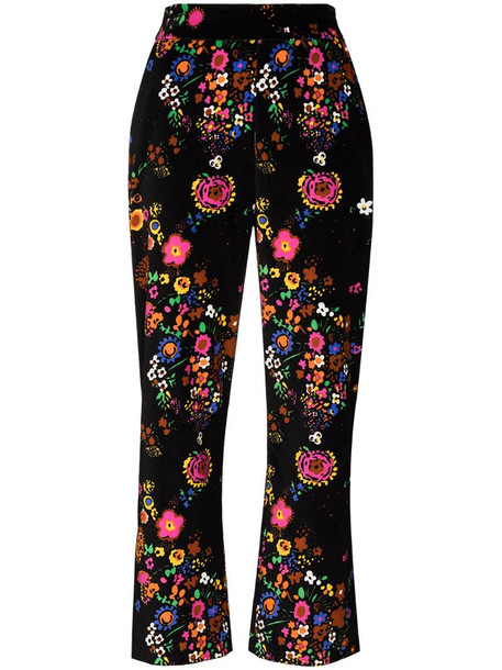 Shrimps hank floral print trousers in brown
