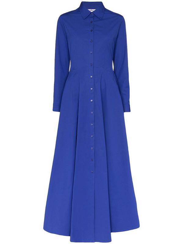 Evi Grintela Marjorelle maxi shirt dress in blue