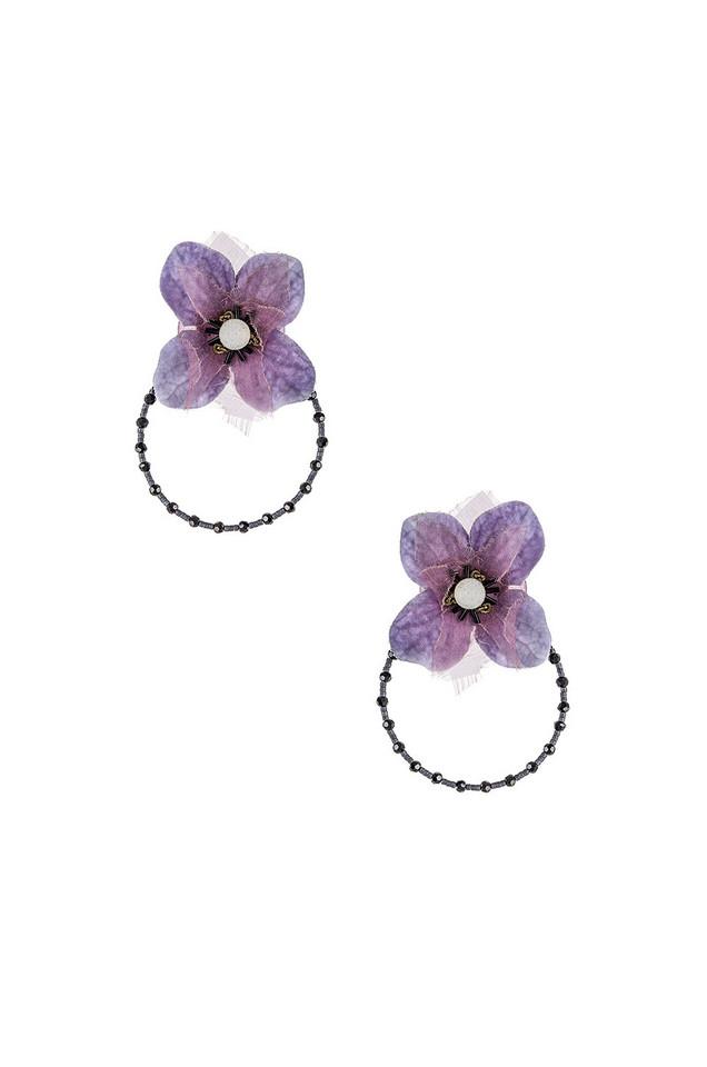 Ranjana Khan Iris Earring in lavender