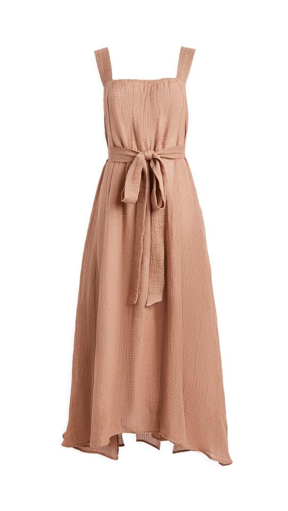 Le Kasha Assiout Linen Gauze Dress in pink
