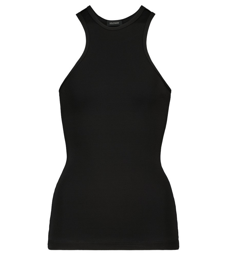 Goldsign The Rib ribbed-knit tank top in black