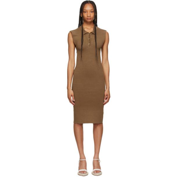 Jacquemus Brown La Robe Santon Dress in beige