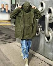 jacket,green jacket