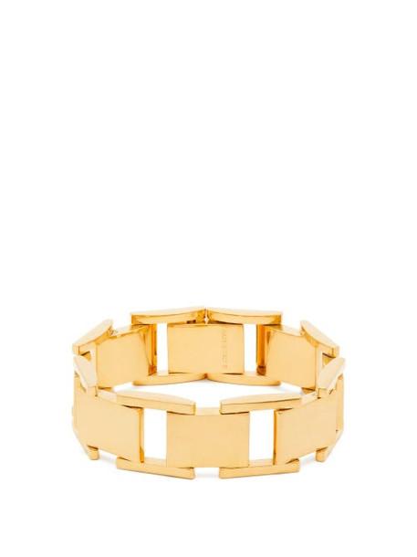 Balenciaga - Gold Tone Link Bracelet - Womens - Gold