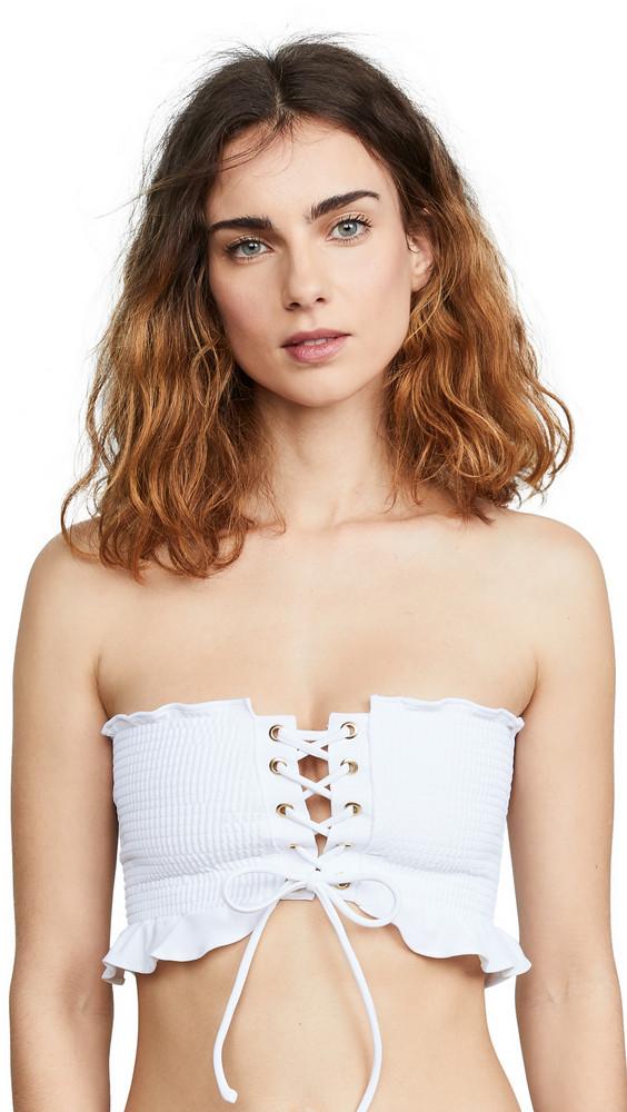 Peixoto Elsa Bikini Top in white