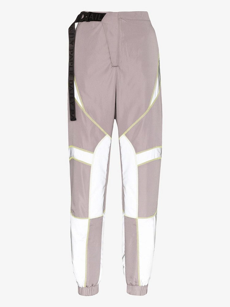 Daily Paper reflective track pants in grey