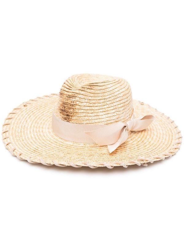 Ruslan Baginskiy woven straw sun hat in natural