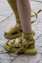 shoes,rick owens,platform shoes,platform sandals,sandals,sandal heels,yellow