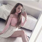 top,pink sheer top,sheer top,pink long sleeve top,pastel,pastel pink