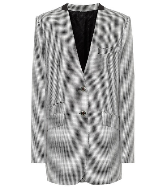 Givenchy Houndstooth wool-blend blazer in grey