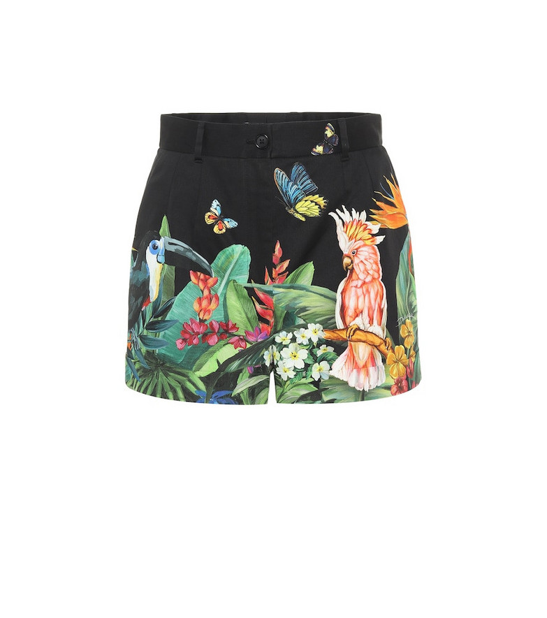 Dolce & Gabbana High-rise stretch-cotton shorts in black