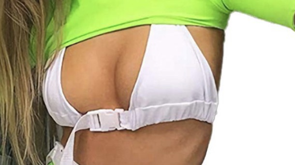 top buckle bra buckles clip bra cropped white