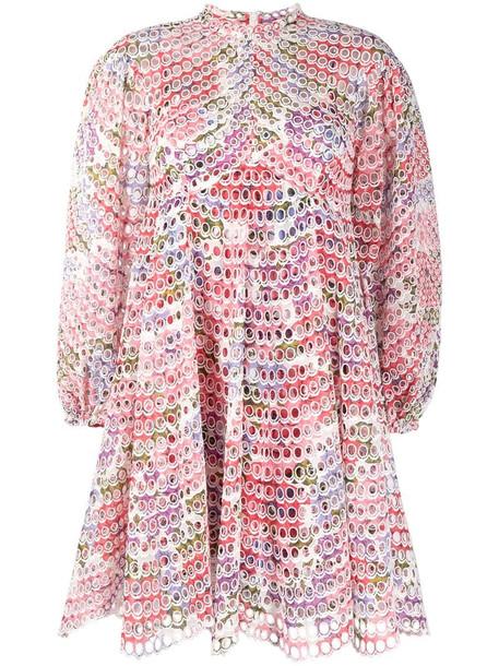 Zimmermann Poppy eyelet short dress in pink