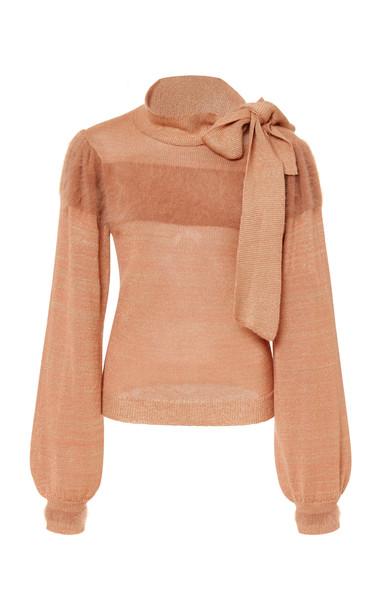 Ulla Johnson Fabia Neck Tie Pullover in pink