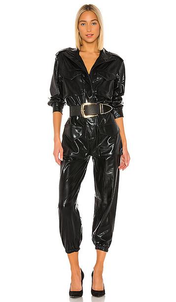Norma Kamali Turtle Cargo Jumpsuit in Black