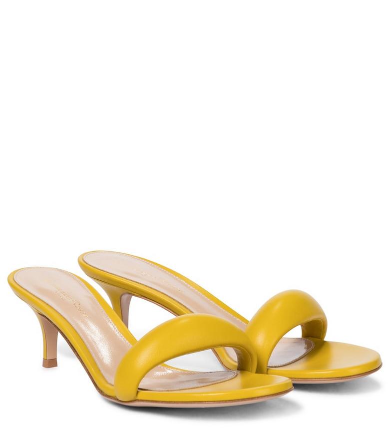 Gianvito Rossi Bijoux 55 leather sandals in yellow