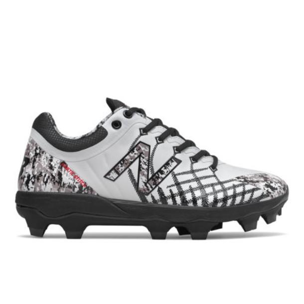 New Balance 4040v5 Pedroia TPU Men's Cleats and Turf Shoes - White/Black (PL4040C5)