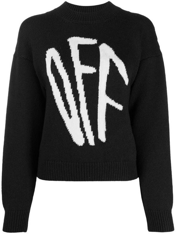 Off-White Graffiti logo intarsia jumper in black