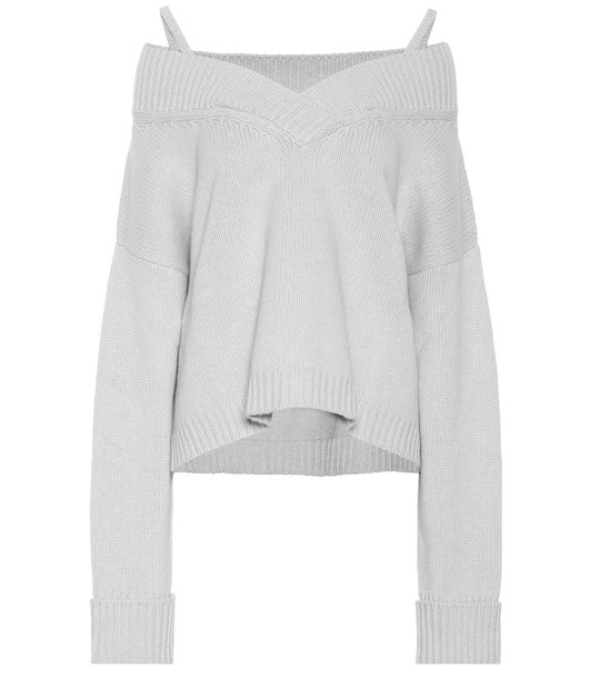 Maison Margiela Wool and cashmere sweater in grey