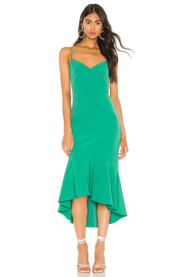Bardot Lisandra Midi Dress in green
