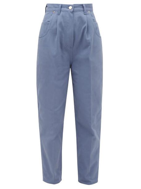 Hillier Bartley - Bull Pleated High-rise Denim Jeans - Womens - Blue