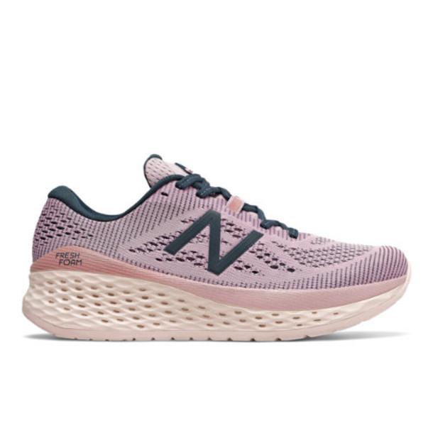 New Balance Fresh Foam More Women's Neutral Cushioned Shoes - Purple/Green (WMORSO)