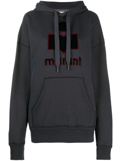 Isabel Marant Étoile Emansel logo hoodie in black