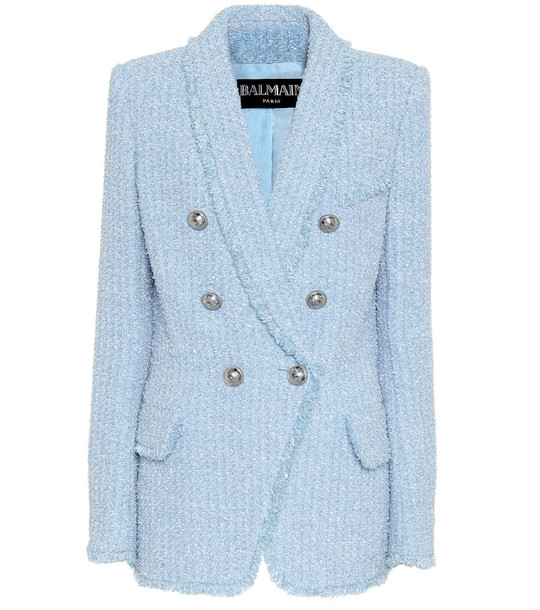 Balmain Tweed blazer in blue