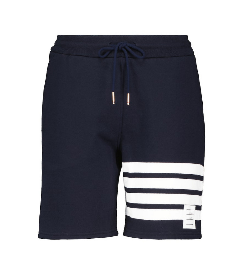 Thom Browne Cotton jersey shorts in blue