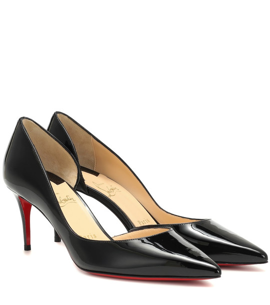 Christian Louboutin Iriza 70 patent leather pumps in black